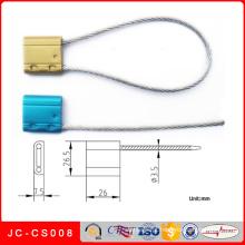 Jc-CS008 cabo selo de aço de segurança cabo de bloqueio e cabo de fio
