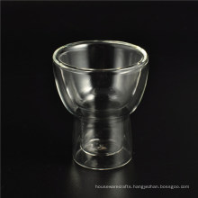 2016 New Design Clear Double Wall Glass Cup