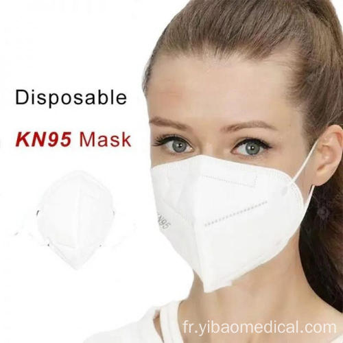 GB2626 Masque facial jetable 3D pliant Kn95