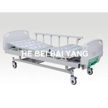(A-70) - Cama de hospital manual de duas funções com cabeça de cama ABS