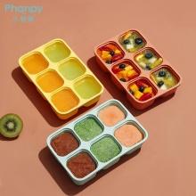 Caixa de armazenamento de alimentos assistida por silicone com orifícios para tampa