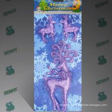 Décoration de Noël en plastique clair Fantaisie de rennes