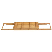 Small bamboo bathroom tub rack