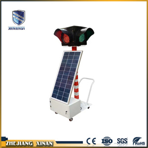 flashing led red green traffic solar security light