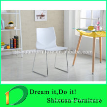 stackable metal frame plastic leisure chair