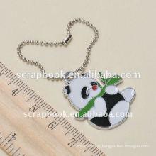 encantos de panda com bola cadeia metal keychain