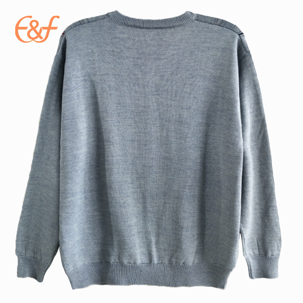 Heavy Knit Sweaters Jacquard Patterns Fancy Sweater For Men