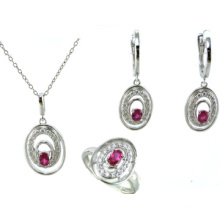 Серебряный комплект ювелирных изделий 925 высокого качества и способа женщин серебряный (S3293)