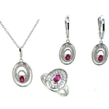 De alta calidad y joyería de la mujer de moda 925 conjunto de plata (s3293)