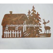 Decoração de parede de artesanato metálico para venda