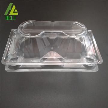 plateaux d'oeufs de poulet en plastique transparent