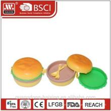 Nouveau! Belle boîte à lunch en plastique enfants Hamburger
