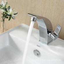 Misturador de bacia de latão antigo e faucet de bacia