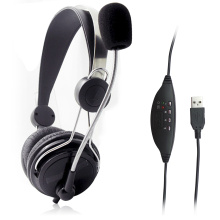USB headphone with microphone for computer PC