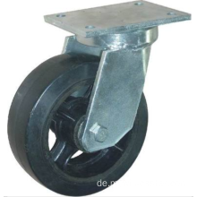 10 '' Top Plate Swivel Industriegummirad