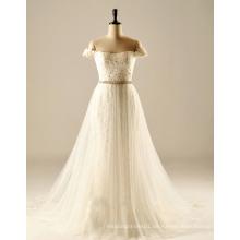 Weg von der Schulter plus Größen-Bestimmungsort-Hochzeits-Kleid