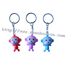 Plastic Monkey Shape Keychain