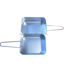 Military Two PCS Mess Tins in Aluminum