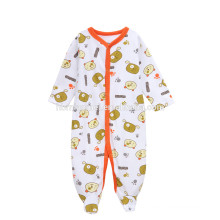 OEM service infant climbing jupmsuit 2017 new fashion long sleeve animal printed hooded baby romper for fall and winter