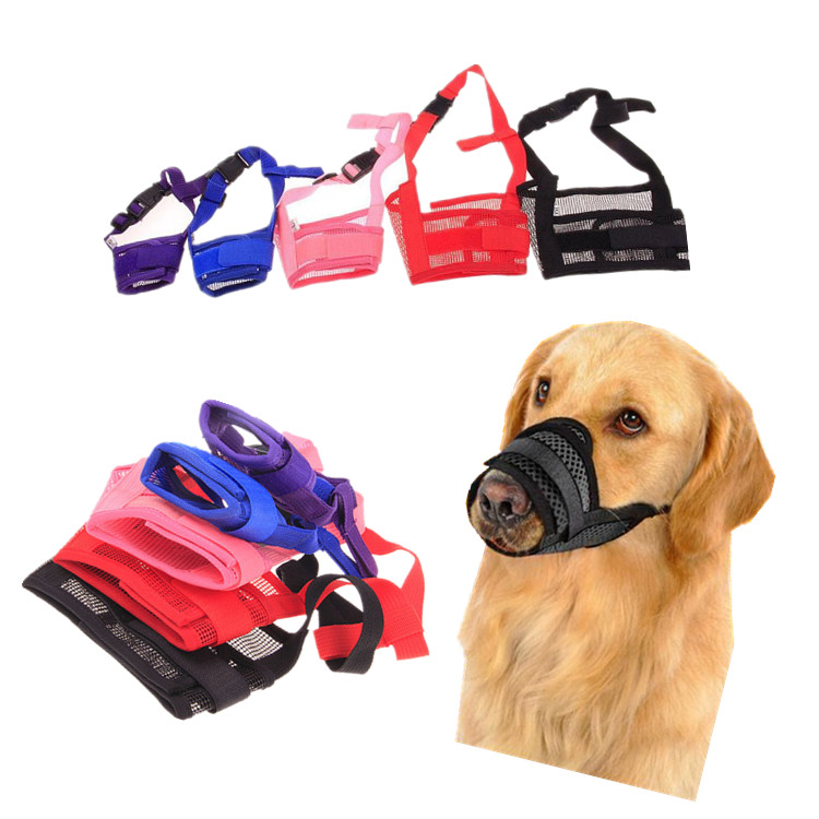 1pc Adjustable Mesh Breathable Small Large Dog Mouth Muzzle Anti Bark Bite Chew Dog Muzzles Training