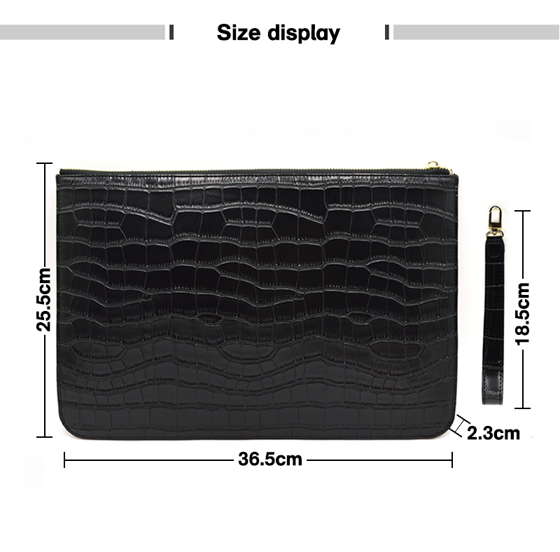 Crocodile Print Black Croc Style Party Evening Bag