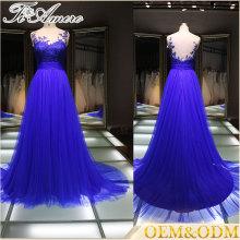 Proveedor de China noche vestido de noche vestido de noche con flor de mama bordada