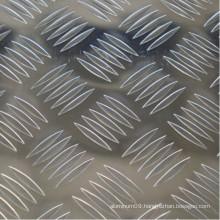Checkered Aluminium Plate with 5 Bars