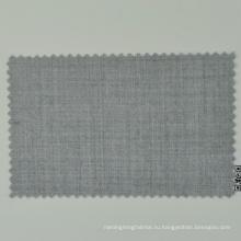 Итальянский Лоро Кадини светло-серый в полоску в natrual камвольно 100% шерсть удобная ткань для мужского костюма