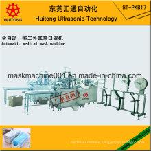 Automatic Ultrasonic Medical Outside Mask Making Machine of 3 Earloop Welding Machines