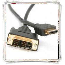 Высокое качество 1.8m 6FT DVI 24 + 1 к кабелю HDMI покрынный золотом для кабеля кабеля компьютера компьютера HD 1080P LCD