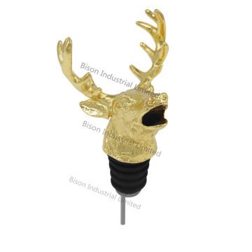 Vinho Pourer Personalizados Deer Head, Deer Wine Pourer