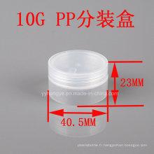 10g Brosse en plastique transparente en plastique PP