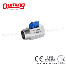 Stainless Steel Mini Ball Valve with Threaded End