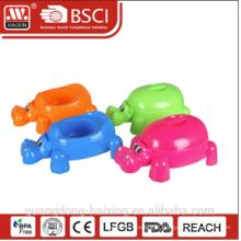 2015 éléphant de conception nouvelle style populaire pot de bébé en plastique