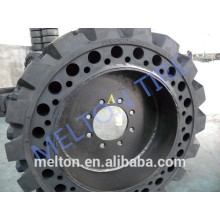 china tire factory 36x7x11 bobcat solid tire with rim