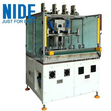 Four stations BLDC stator needle winding machine