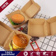Eco Friendly Composable Kraft Paper Burger Hamburger Box