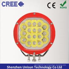 """180mm 7 """"12V-24V 90W CREE LED Offroad Conducción Luz"""