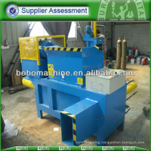 Chopped straw baling machine