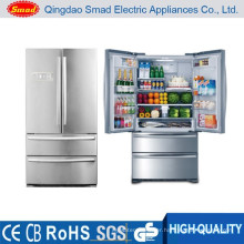 French door stainless steel big capacity refrigerator with ice maker