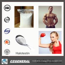 Poudre stéroïde crue d'Halotestin de Poudre stéroïde de 99% pour le gain de muscle