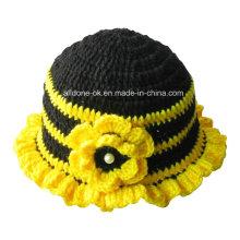 Мода руки вязать крючком бисером пчелиный шапочка шапочка с цветком