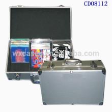 vendas por atacado da caixa do CD do alumínio de alta qualidade CD 60 discos (10mm) da fábrica de China