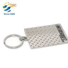 High Quality Custom Logo Stamped Metal Custom Engraved Tag Special Design Keychain