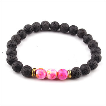 Natural volcanic stone bracelets for men and women