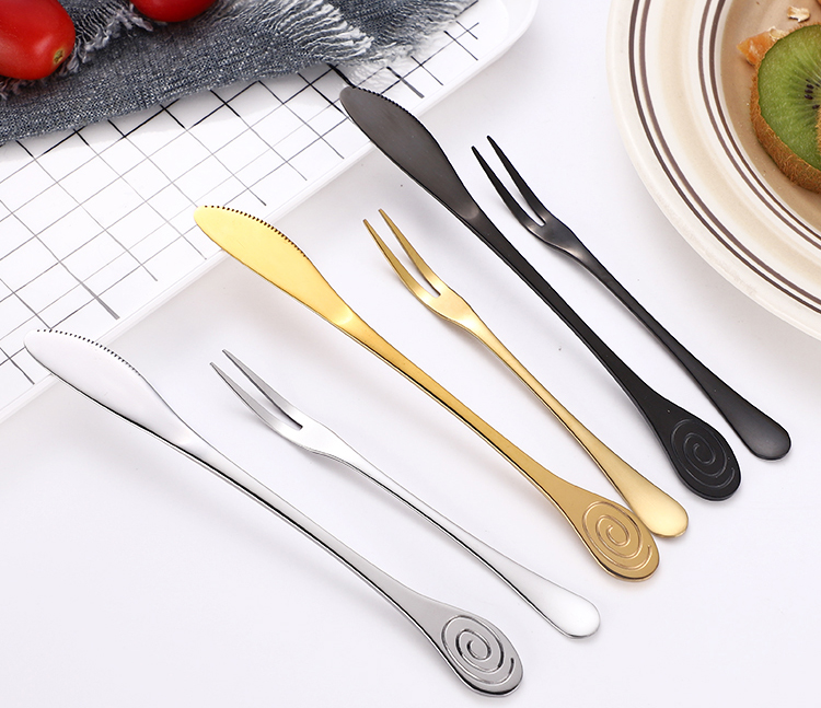 Fork and Knife Flatware Set