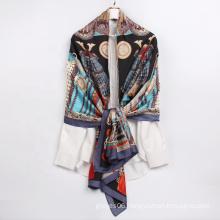 Wholesale 2021 Hot Sale Fashion Women Scarves Exquisite Pattern Custom Long Turkish Silk Scarf
