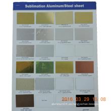 Sublimación de aluminio hojas en blanco en bobina o hoja