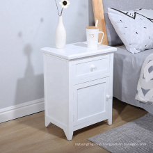 cheap white modern wooden nightstand with drawer