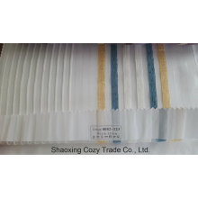 New Popular Project Stripe Organza Voile Sheer Curtain Fabric 0082123